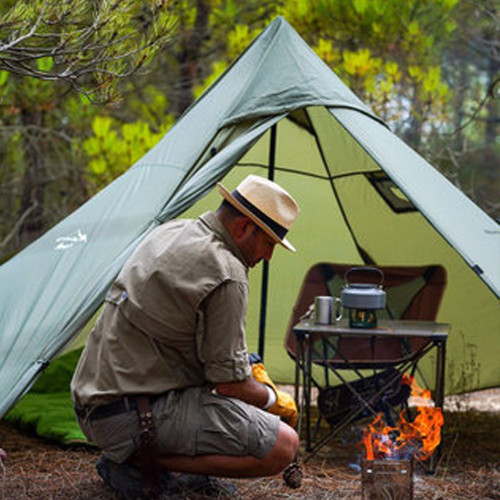 Lightweight Tipi Hot Tent With Removable Stove Jack Cloth