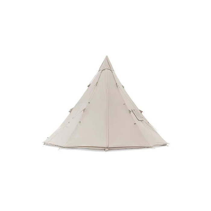 Cotton Tipi Tent 3-4 Person With Stove Jack And Removable Cap