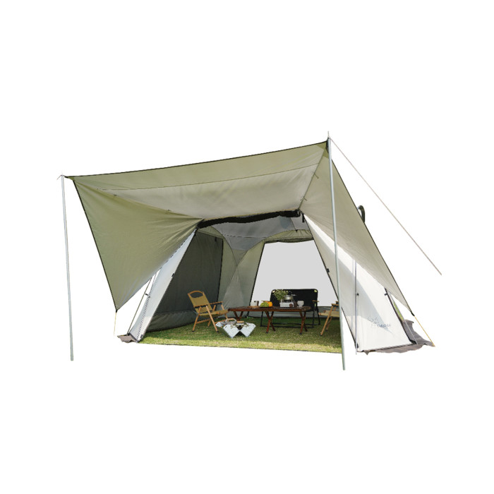 Vidalido Camping Tent With Stove Jack 8 10 Person Canopy With Side Windows 4 Season