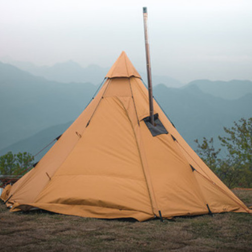 Camping 3-4 Person Hot Tent 300D Oxford With Half Tent