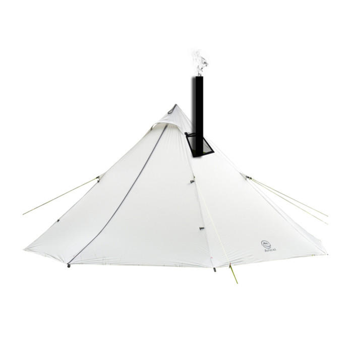 20D Silicon-coated Nylon Camping Tipi Tent With Stove Jack