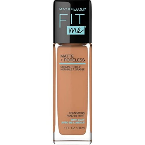 Maybelline Fit Me Matte + Poreless Liquid Foundation Makeup, Toffee, 2 COUNT Oil-Free Foundation