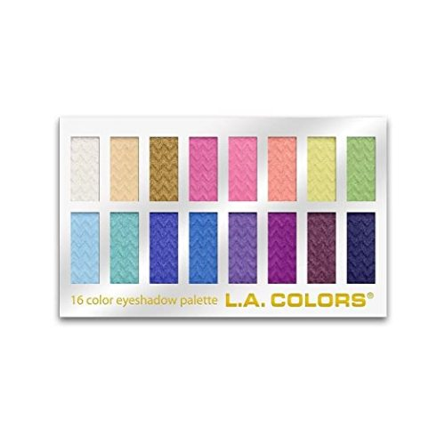 L.A. COLORS 16 Color Eyeshadow Palette, Haute, 1.02 Ounce (LA74202)