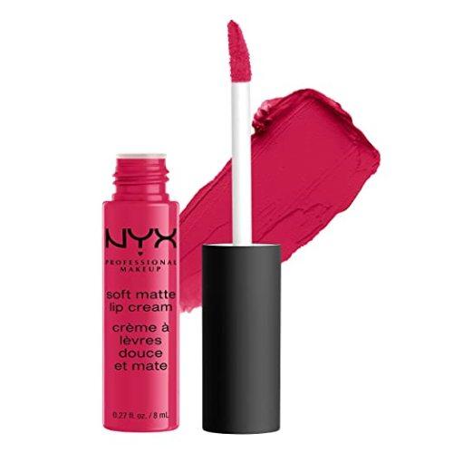 NYX PROFESSIONAL MAKEUP Soft Matte Lip Cream, High-Pigmented Cream Lipstick, Antwerp
