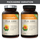 NatureWise CLA 1250 Natural Weight Loss Exercise Enhancement (2 Month Supply), Increase Lean Muscle Mass, Non-Stimulating, Non-GMO, Gluten-Free, & 100% Safflower Oil (Packaging May Vary) [180 Count]