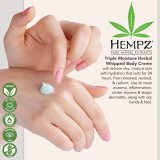 Hempz Natural Triple Moisture Herbal Whipped Body Cream with 100% Pure Hemp Seed Oil for 24-Hour Hydration - Moisturizing Vegan Skin Lotion with Yangu Oil, Peach and Grapefruit - Enriched Moisturizer