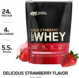 Optimum Nutrition Gold Standard 100% Whey Protein Powder, Strawberry Banana, 2 Pound (Packaging May Vary) by Optimum Nutrition