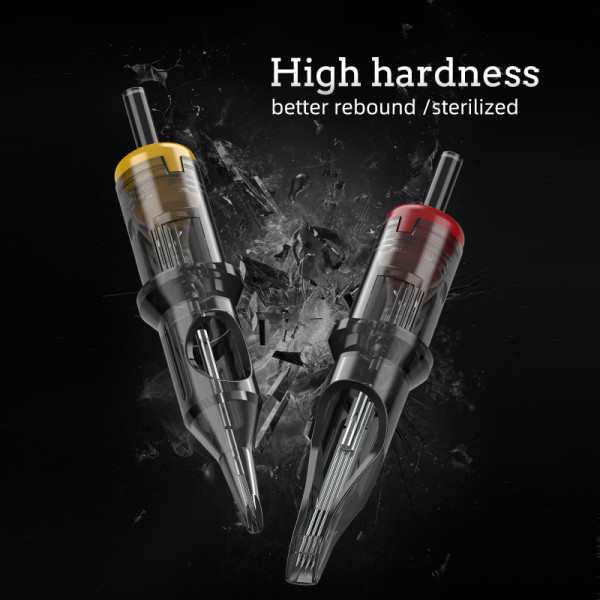 20PCS Premium New Cartridge Tattoo Needles For Tattoo Machines Pen Grips Supply