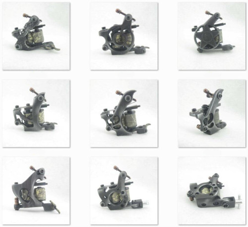 One 8 Wrap Coils General Beginner Tattoo Machine Gun For Kit Power Set Tattoo Tools Supply