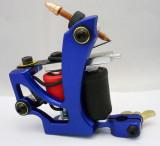 One Aluminum Alloy 10 Wrap Coils Tattoo Machine Gun For Kit Power Set Tattoo Tools Supply