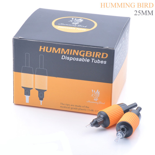 20PCS HUMMINGBIRD Premade Sterilized Disposable Tattoo Machine Grip Tube Supply