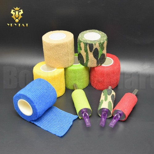 Lot Of 10PCS 50mm Tattoo Machine Magic Bandage Grip Cover For Aluminum Alloy Steel Plastic Tattoo Grip Supply