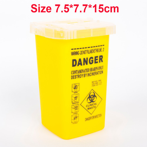 1L Tattoo Supplies Container for Disposable Sharps Medical Needle Tips Waste Box Tattoo Accessories Buckets Collections Barrels