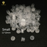 Disposable Small / Middle / Large Ink Pigment Caps With Bottom 1000PCS Base Plastic Tattoo Makeup Ink Cups Accessories Supply