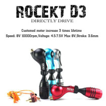 One New Arrival Rocket D3 Rotary Tattoo Machine Gun With Free Cartridge Grip Clip Cord Supply