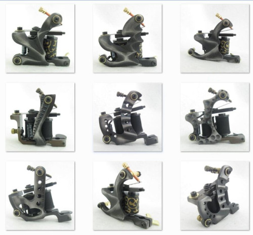 One 10 Wrap Coils Professional Top Tattoo Machine Gun For Kit Power Tattoo Tools Supply