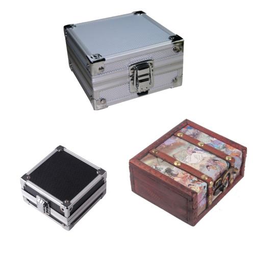 High Grade Pro Aluminum/Wooden Tattoo Machine Gun Box For Permanent Tattoo Machines Box Case Kit Accessories Tools Supply