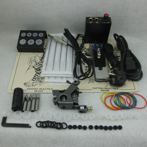 One Coils Tattoo Machine Mini Power Needles Tips Beginner Starter Tattoo Kit Supply
