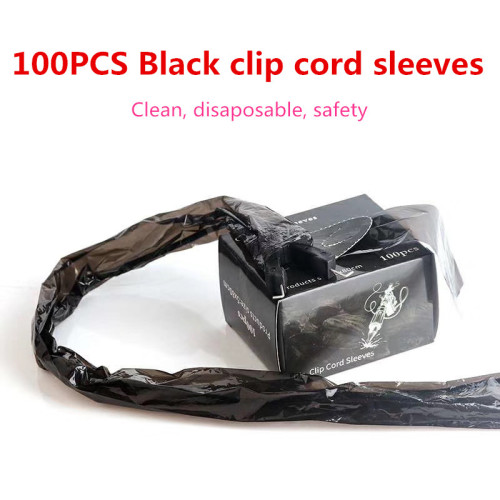 100PCS Black Disposable Covers Bags Sleeves For Tattoo Machine & Clip Cord Accessories Supply
