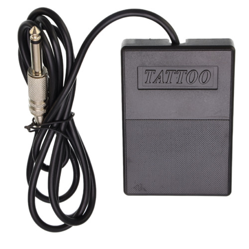 One Black Plastic Tattoo Foot Pedal Switch For Machine Gun Kit Power Supply