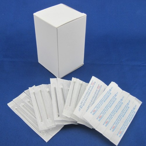 Box Of 100PCS 12/13/14/15/16/18/20G Sterilized 2  Body Piercing Needles Supply