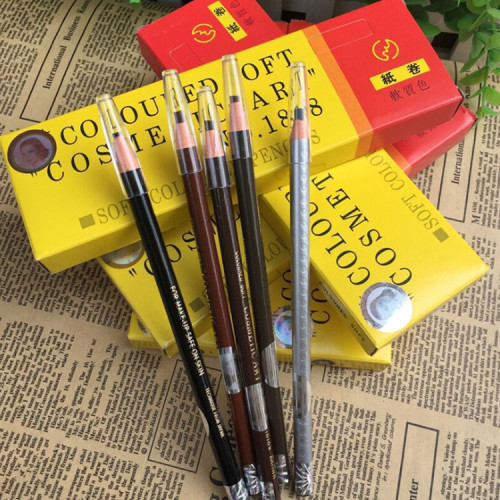 Box Of 12PCS Original 1818 Peel Off Longlasting Wasterproof Paper Eyebrow Pen For Permanent Makeup Drawing Tools Supply