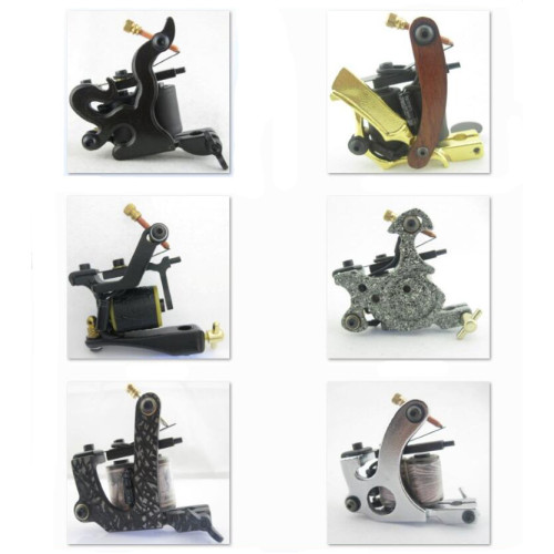 One Custom Pro Top Carbon Steel 10 Wrap Coils Tattoo Machine Gun Supply