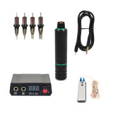 Professional Rotary Tattoo Machine Pen With Hook RCA Line And LCD Mini Power Permanent Makeup Tattoo Equipment Tools Supply