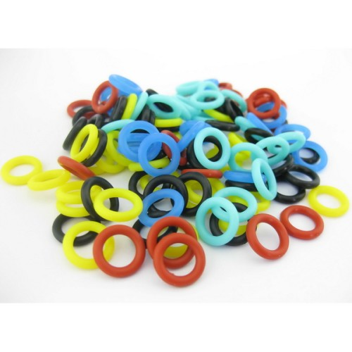 200PCS Silicone Tattoo O-rings For Permanent Makeup Coils Tattoo Machine Gun Springs Spare Parts Accessories Supply