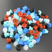 100 × Silicone Half Grommets (Top Hats) For Tattoo Machine Needles Parts Supply