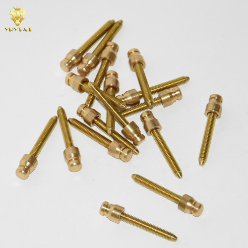 Lot Of 5PCS 4mm Thread Brass Solid Contact Screws For Coils Tattoo Machine Supply
