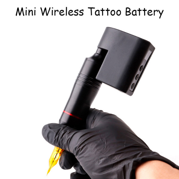2400MHA Mini Wireless Power Tattoo Battery Pack with LCD Screen For Tattoo Rotary Machine Pen RCA/DC Battery Supply