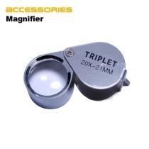 Mini Triplet Jeweler Eye Loupe Magnifier Magnifying Glass 20X 21mm