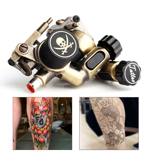 One Skull Rotary Motor Tattoo Machine Liner & Shader Electric Tattoo Machine Gun Bodyart Tools Supply