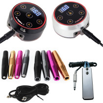 Permanent Makeup Rotary Tattoo Machine Pen With Pro Mini AURORA-2 LED Touch Pad Tattoo Power Supply