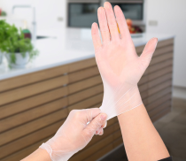 Disposable Vinyl Gloves Latex Free, Powder Free Clear Gloves for Cleaning, Cooking, Hair Coloring, Dishwashing, Food Handling and Food Service(100pcs)