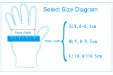 Disposable blue nitrile glove with powder free (100pcs)