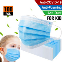 100 pack Factory sale Kids masks Disposable face mask Protective Safety  Children Prevent Disease