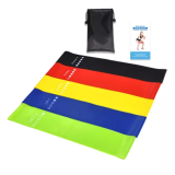 Resistance Bands Workout Leg Exercises Fitness Band Stretch Elastic Slim Work Out Bands (Set of 5)
