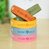 Mosquitno 5-Pack Natural Mosquito Repellent Wristbands Red, Orange, Green, Blue, Yellow Kids