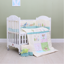 Crib peripherals bedding kit baby children cotton stereoscopic toy bed peripherals can be removed and washed four seasons general