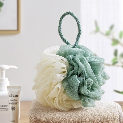 Creative bath ball bath bathroom large cotton ball wipe adult rub back rub towel bath bubble ball bath flower