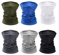6 Pieces Sun UV Protection Face Mask Neck Gaiter Scarf Sunscreen Breathable Bandana for Hot Summer Cycling Hiking Fishing