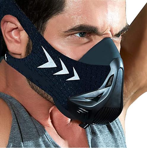 Workout Fitness Mask, Training Mask, Running Mask, Breathing Mask, Resistance Mask,Men Women Adult High Altitude Elevation Simulation Trainer