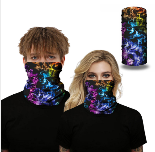 Neck Scarf UV and Dust Protection Balaclava Face Mask Multifunctional Headwear Headband Bandanas for Outdoor Sports and Party 3pc,Face shield