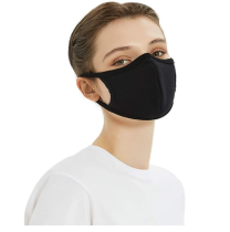 Unisex facial mask, washable and reusable, breathable washable cotton, adjustable ear strap for outdoor (5 pieces)