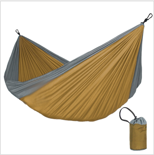 Parachute cloth hammock double color matching comfortable outdoor swing dormitory lunch break leisure hanging chair