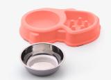 Pet food bowl Slow food dog bowl Slow food bowl Anti-choke food bowl Plastic dog bowl