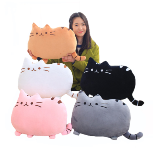 40CM big face cat plush toy baby room decoration cat toy girl boy sleeping pillow birthday gift lazy cat cat plush doll toy