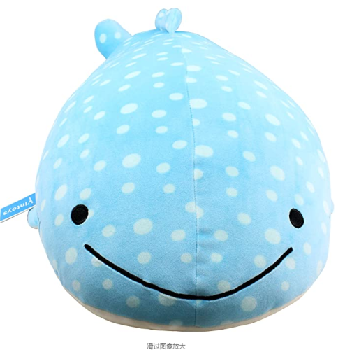 Very soft blue whale shark big hug pillow plush doll fish plush toys stuffed animal toys